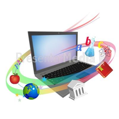 Laptop Swirl Teaching Presentation clipart