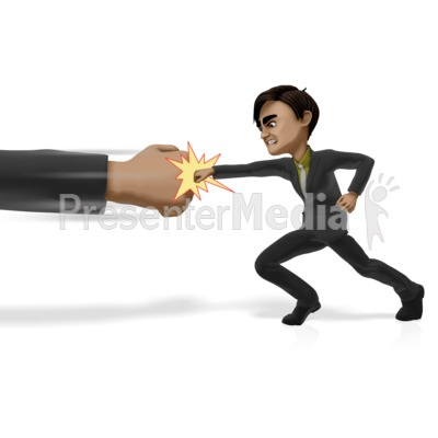 Punching Powers That Be Presentation clipart