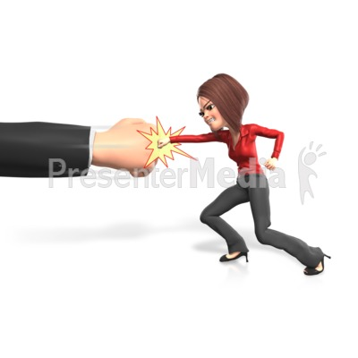 Punching The Powers That Be Presentation clipart