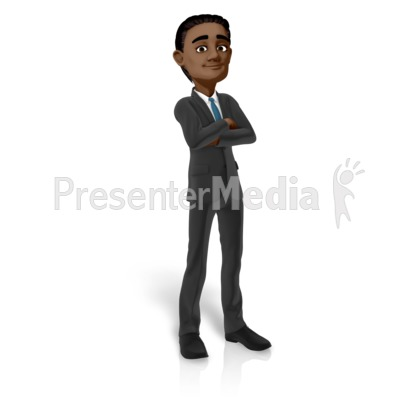 Brad Standing Arms Folded Presentation clipart