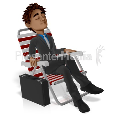 Business Vacation Brad Relax Presentation clipart