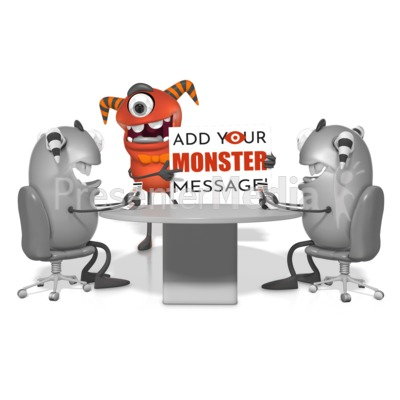 Monster Meeting Presentation clipart