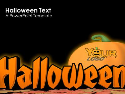 halloween text a powerpoint template from. Black Bedroom Furniture Sets. Home Design Ideas