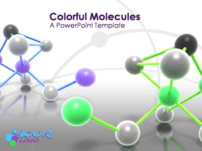Colorful Molecules A Powerpoint Template From