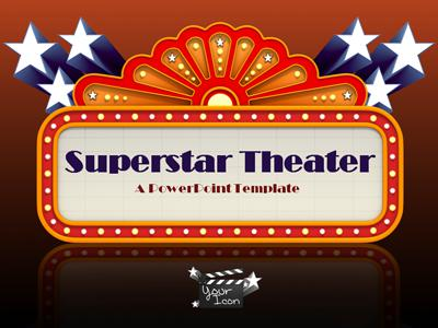 Superstar Theater - A PowerPoint Template from PresenterMedia.com