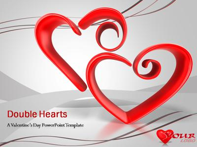 Double Hearts A Powerpoint Template From