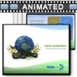 ID# 393 - Green Earth Butterfly - PowerPoint Template