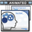 ID# 2030 - Head Outline With Gears - PowerPoint Template