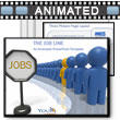 ID# 3244 The Job Line PowerPoint Template