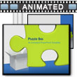 ID# 3339 - Green Puzzle Piece in Box - PowerPoint Template