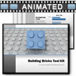 ID# 3400 - Building Blocks Tool Kit - PowerPoint Template