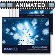 ID# 4234 - Christmas Snow - PowerPoint Template