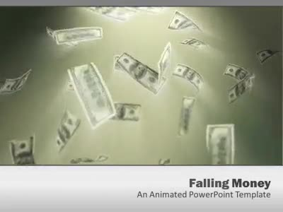 US Falling Money - A PowerPoint Template from ...