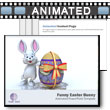 ID# 5108 - Funny Easter Bunny - PowerPoint Template