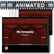 ID# 5281 - Theater Curtain - PowerPoint Template