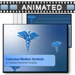 ID# 5763 Caduceus Medical Symbols  PowerPoint Template