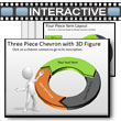 ID# 5782 - Three Piece Interactive Chevron Tool Kit - PowerPoint Template