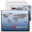 ID# 5807 - World Map Tool Kit - PowerPoint Template