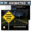 ID# 5834 - Stormy Road Ahead - PowerPoint Template