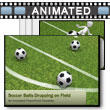 ID# 6552 - Soccer Balls Dropping On Field - PowerPoint Template