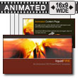 ID# 7344 - Liquid Fire - PowerPoint Template