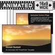 ID# 7370 - Ocean Sunset - PowerPoint Template