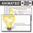 ID# 7380 - Puzzle Piece Light Bulb Assemble 	 - PowerPoint Template