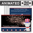 ID# 7500 - Fireworks Celebration - PowerPoint Template