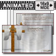 ID# 7550 - Clothed Easter Cross - PowerPoint Template