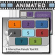 ID# 7582 - Eight Interactive Panels Tool Kit - PowerPoint Template