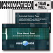 ID# 7590 - Blue Heartbeat - PowerPoint Template