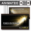 ID# 7596 - Light In Darkness - PowerPoint Template