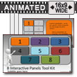 ID# 7630 - Eight Interactive Panels Tool Kit - PowerPoint Template