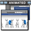 ID# 7900 Teamwork In Motion PowerPoint Template