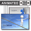 ID# 8372 - Risky Tightrope - PowerPoint Template