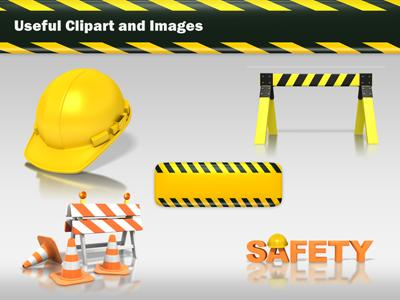 hard hat work safety a powerpoint template from