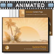 ID# 8711 Summer Palms PowerPoint Template