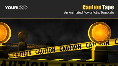 Caution Tape A Powerpoint Template From Presentermedia Com