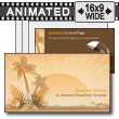 ID# 8813 - Summer Palms - PowerPoint Template