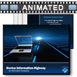 ID# 9018 Devices Information Highway PowerPoint Template