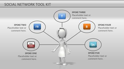 social network tool kit a powerpoint template from. Black Bedroom Furniture Sets. Home Design Ideas
