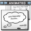 ID# 9780 - Whiteboard Doodles - PowerPoint Template