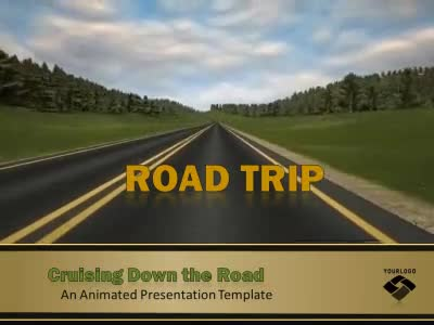road trip a animated powerpoint template from. Black Bedroom Furniture Sets. Home Design Ideas