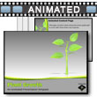 ID# 9992 Growing Plant PowerPoint Template