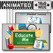ID# 12491 Educate Me PowerPoint Template