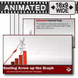 Figure Hauling Arrow Up Graph PowerPoint Template