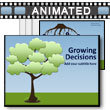 Growing Decision/idea Tree & Roots PowerPoint Template