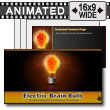 Electric Brain In Lightbulb PowerPoint Template