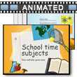 School Time Subjects PowerPoint Template
