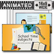ID# 15198 - School Time Subjects - PowerPoint Template